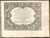 Modulorum Orlandi de Lassus quaternis, quinis, senis, septenis, octonis & denis vocibus modulatorum secundum volumen