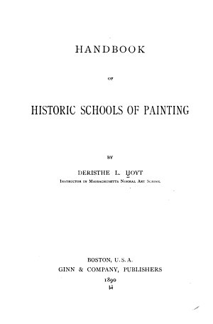 Handbook of Historic Schools of Painting