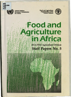 Food and Agriculture in Africa PDF