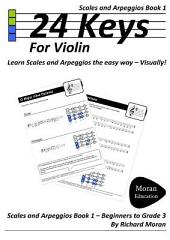 24 Keys Scales and Arpeggios for Violin -: Book 1
