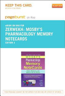 Mosby's Pharmacology Memory Notecards Pageburst on Kno Retail Access Code