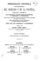 Bibliograf  a espa  ola contempor  nea del derecho y de la pol  tica  1800 1880 PDF
