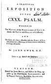 A Practical Exposition Of The Cxxx Psalm