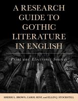 A Research Guide to Gothic Literature in English PDF