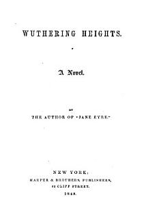 Wuthering Heights  by the author of  Jane Eyre   really by E J  Bront     Book
