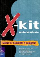 Xkit undergraduate Maths for Scientists and Engineers PDF