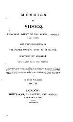 Memoirs Of Vidocq Book PDF
