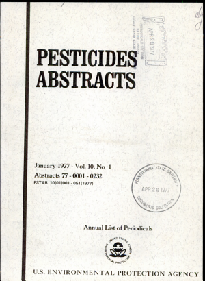 Pesticides Abstracts PDF