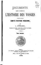 Documents rares ou inédits de l'histoire des Vosges