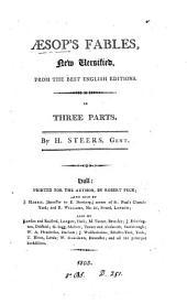 Æsop's fables, new versified by H. Steers