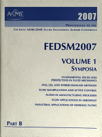 Proceedings of the 5th Joint ASME JSME Fluids Engineering  Division  Summer Conference  2007   parts A and B  Symposia PDF