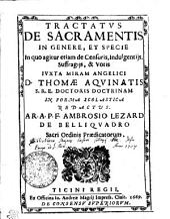 Tractatvs de sacramentis in genere, et specie