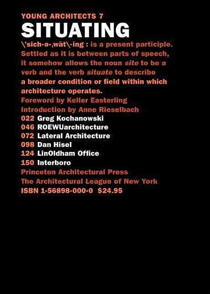 Young Architects 7  Situating