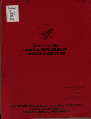 Guideline on General Principles of Process Validation
