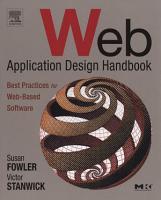 Web Application Design Handbook PDF