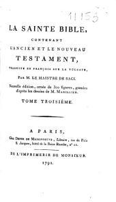 La Sainte Bible : contenant l'Ancien et le Nouveau Testament ; traduite en françois sur la Vulgate. 2 (1791)