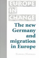 The New Germany and Migration in Europe PDF