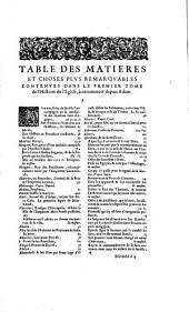 Histoire de l'Eglise: Volumes1à2