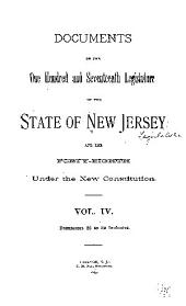 Documents of the Legislature of the State of New Jersey: Volume 117, Part 4