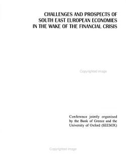 Challenges and Prospects of South East European Economies in the Wake of the Financial Crisis PDF