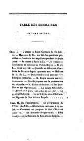 Révélations d'une femme de qualité: sur les années 1830 et 1831