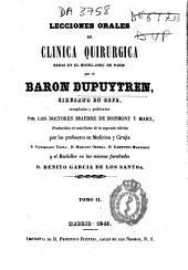 Lecciones orales de clínica quirúrgica dadas en el Hotel-Dieu de Paris: Volumen 2