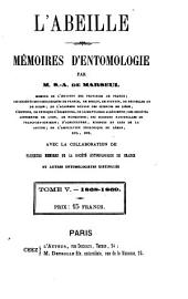 L'Abeille: journal d'entomologie, Volume 5