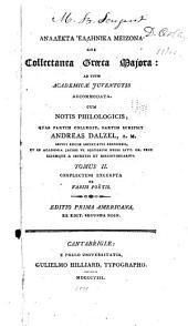 Complectens excerpta ex variis poetis (Ex. edit. secunda edin.)