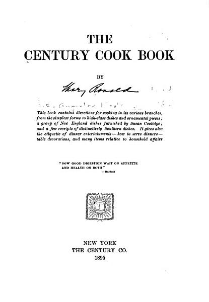 Download The Century Cook Book Book