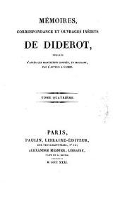Mémoires, correspondance et ouvrages inédits de Diderot: Volume21