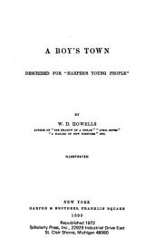 """A Boy's Town, Described for """"Harper's Young People."""""""