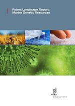 Patent Landscape Report: Marine Genetic Resources