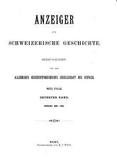 Anzeiger f  r schweizerische Geschichte PDF