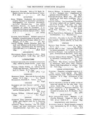 The Providence Athenaeum Bulletin