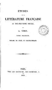 Études sur la littérature française au dix-neuvième siècle