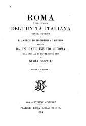 Roma nella storia dell'unità italiana: studio storico, Volume 2