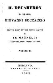 Il Decameron di Messer Giovanni Boccaccio: Volume 3