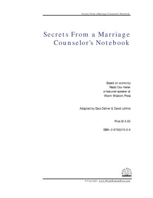 Secrets from a Marriage Counselor s Notebook PDF