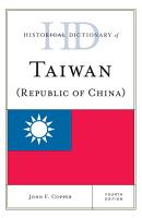 Historical Dictionary of Taiwan  Republic of China  PDF