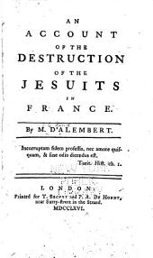 An Account of the Destruction of the Jesuits in France