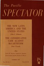 The Pacific Spectator the New Latin America and the United States, the Conservative Case Against McCarthyism