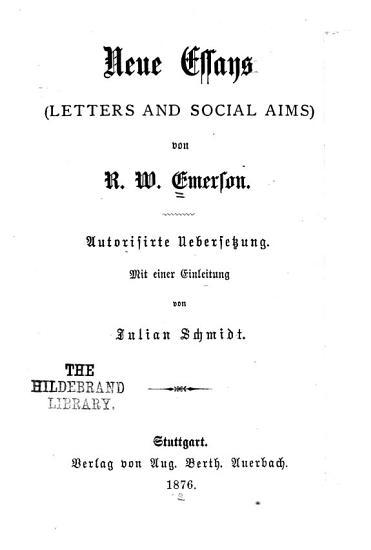 Neue Essays PDF