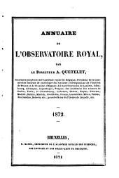 Annuaire de l'Observatoire Royal de Bruxelles: Volume 39