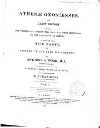 Athenae Oxonienses Book PDF