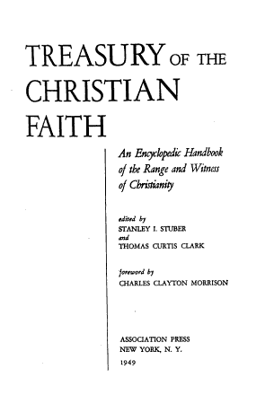 Treasury of the Christian Faith PDF