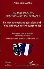 LES 1001 RAISONS D'APPRENDRE L'ALLEMAND: Le management franco-allemand : des opportunités insoupçonnées
