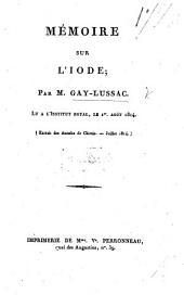 Mémoire sur l'iode
