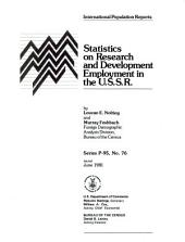 Statistics on research and development employment in the U.S.S.R.