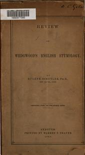 Review of Wedgwood's English Etymology