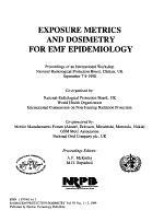 Exposure Metrics and Dosimetry for EMF Epidemiology